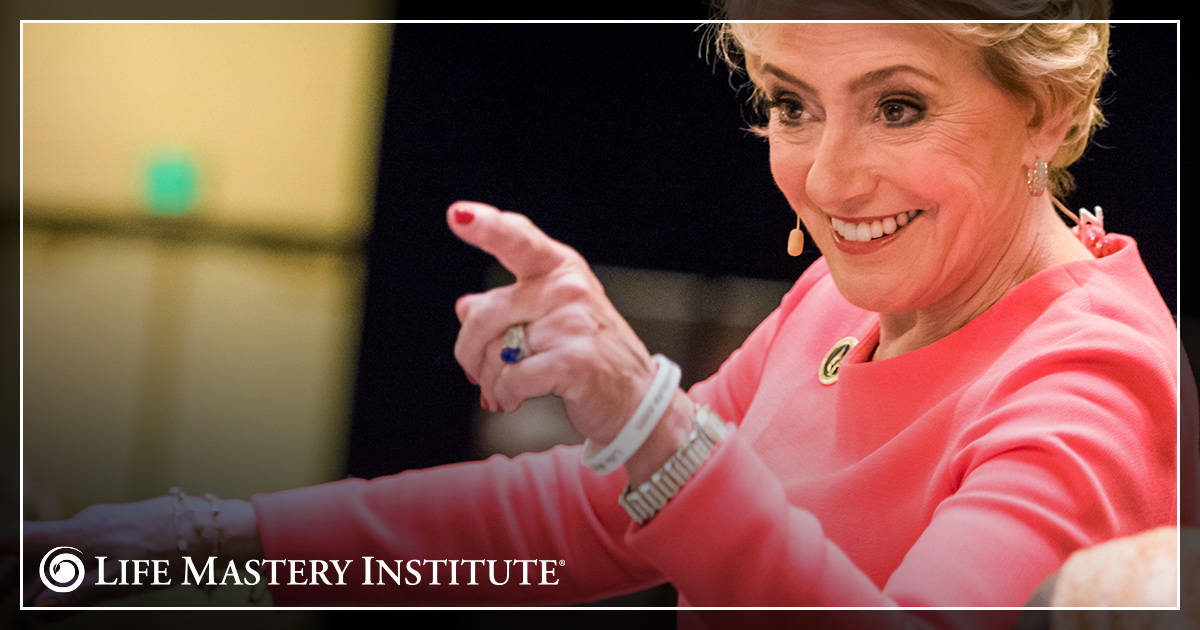 public speaking tips mary morrissey pointing