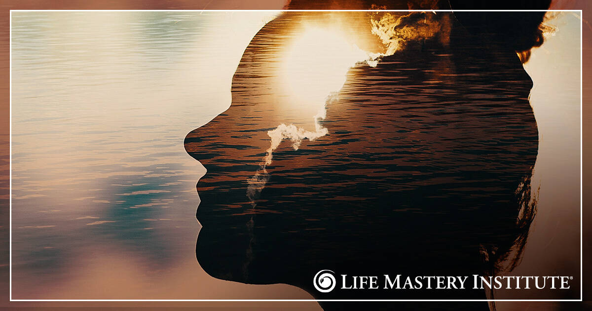 supernatural aid woman lake reflection