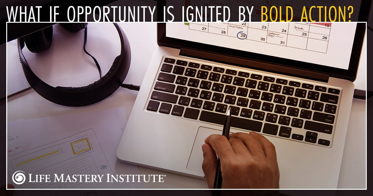 success is when preparation meets opportunity bold action