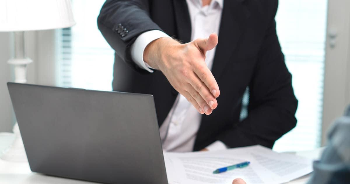 sales success handshake