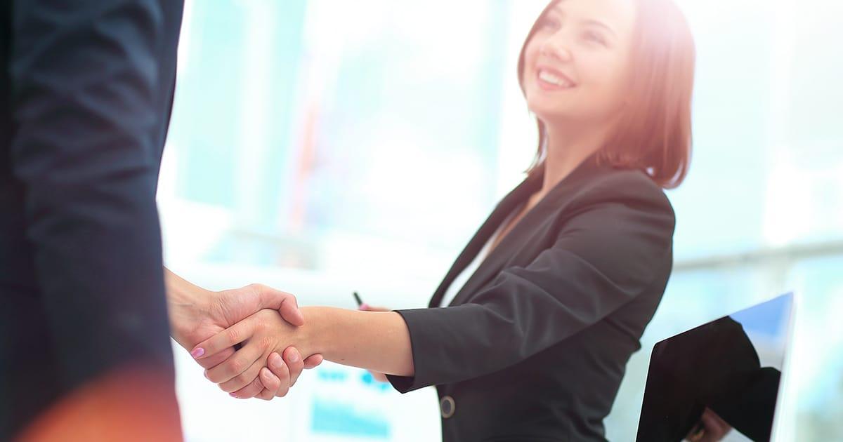 save a sale handshake
